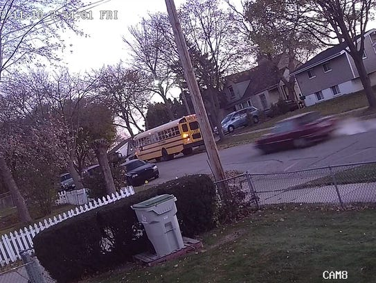 Surveillance footage captured this image of the car