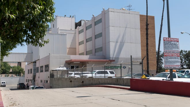 Tulare County Sheriff Department headquarters on Tuesday, August 8, 2017. The ramp at left leads to the sally port of the jail for prisoners transfers.