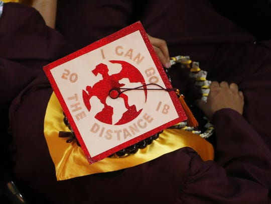 ASU graduation caps during Arizona State University's