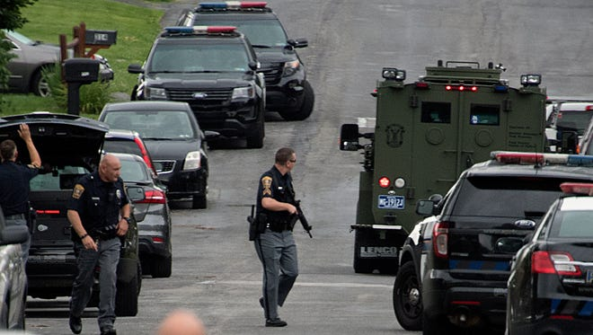 Police responded to a normally quiet Springettsbury Township neighborhood on Wednesday morning for a report of a man who was having mental health issues. A standoff ensued and ended peacefully after about five hours.