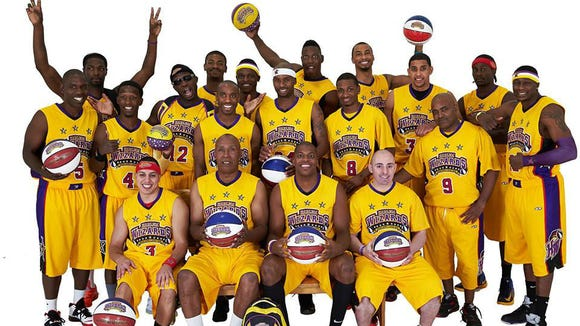 The Harlem Wizards basketball team.