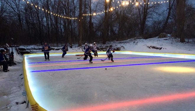 The Sussex Village Board approved a portable  outdoor ice rink for the upcoming winter season on Tuesday, July 25. NiceRink, the company Sussex made the purchase through, provides temporary and portable ice rinks to Cedarburg and Hartford, like the rink pictured.