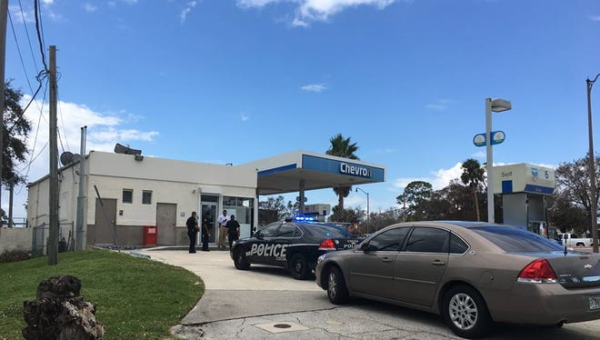 Police are reviewing a shooting at a convenience store Wednesday. No one was injured.