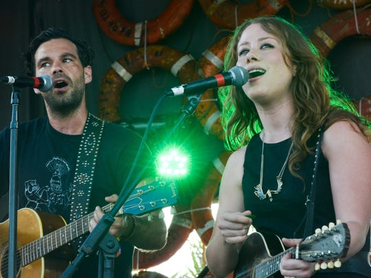 Zach Williams and Kanene Donehey Pipkin of The Lone Bellow.