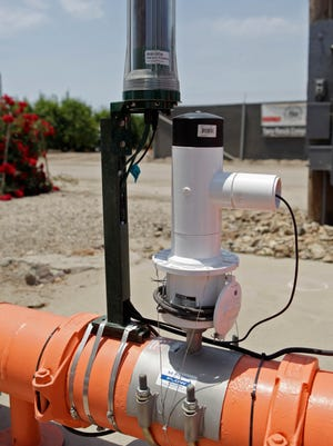 STAR FILE PHOTO A view of an automated metering device made by Ranch Systems in Oxnard. The device provides real-time electronic monitoring of grounding water pumping.