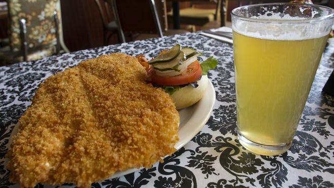 Augusta's pork tenderloin sandwich is seen on Thursday, Nov. 29, 2012.