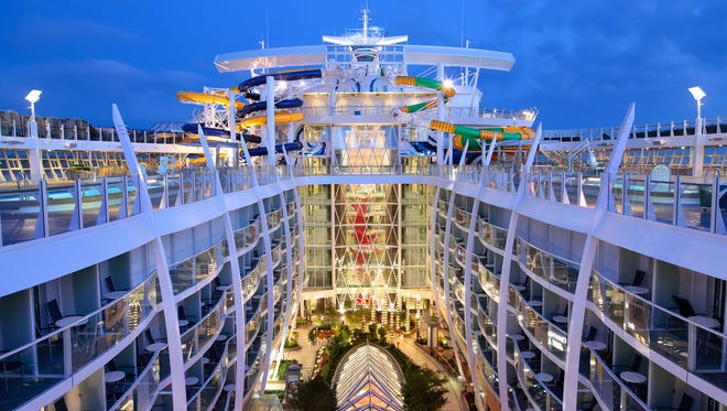 "Harmony of the Seas sports the same inward-facing ""cavern"" as its sisters, giving guests more options than ever for accommodations."