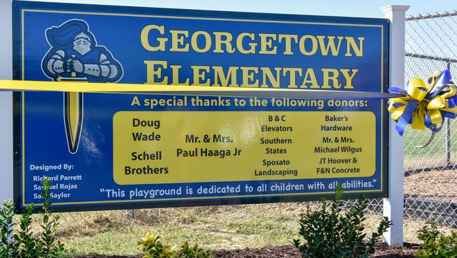 A file photo of Georgetown Elementary School in September 2017.
