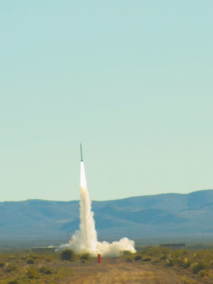 A UP Aerospace SpaceLoft rocket successfully launched from Spaceport America Friday morning with various experimental payloads aboard.