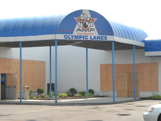 The now-closed Olympic Lanes on Scottsville Road in
