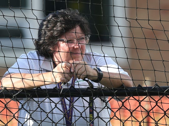 Brewster High School's Ann Marie Chalmers watches a