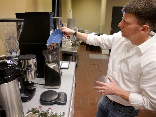 Trace Yates from Mile Square Coffee demonstrates ways