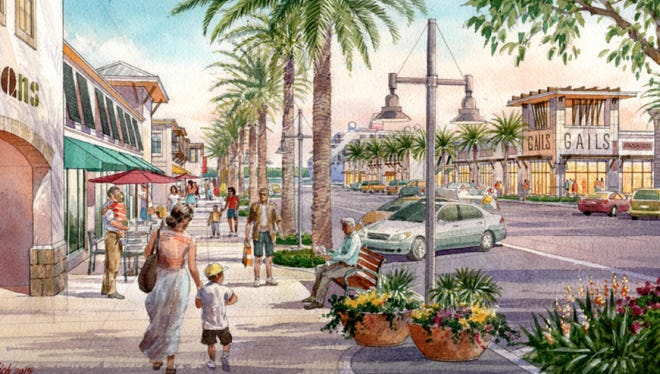 An artist's rendering of the proposed Portside Drive area of Port Canaveral.