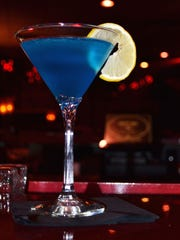 The Mae West Martini at Nicky Blaine's is bright blue, perfect for Colts nation.