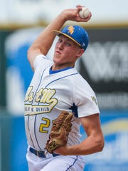 Brady Gavin of Martensdale-St. Marys led his team to a state runner-up finish in baseball last summer.