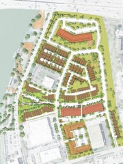 Hubbell Realty Co. plans to build a 16-acre residential development called the Bridge District on the north side of the East Village.