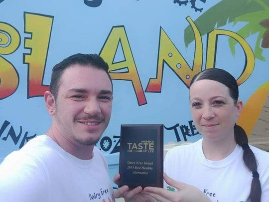 Dairy Free Island co-owners Eli Scioli and Katie Jones won Best Alternative Dessert at the 2015 Taste of Lee for their cocowhip parfait.