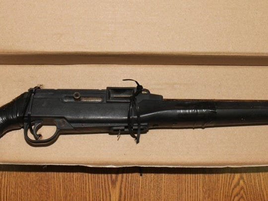 The weapon in found Nathaniel Montoya's possession. Police said it was 22 caliber rifle modified to resemble a shotgun.