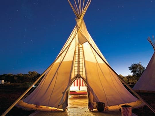 Marfa's El Cosmico is an 18-acre hotel and campground