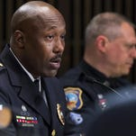 Wilmington Police Chief Bobby Cummings speaks during a meeting of the Wilmington City Council Budget Committee in April.