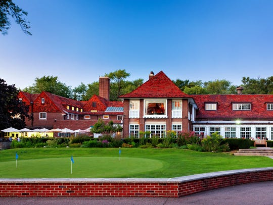 The clubhouse at Detroit Golf Club.