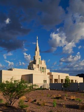 Exterior at the Phoenix Arizona Temple in northwest
