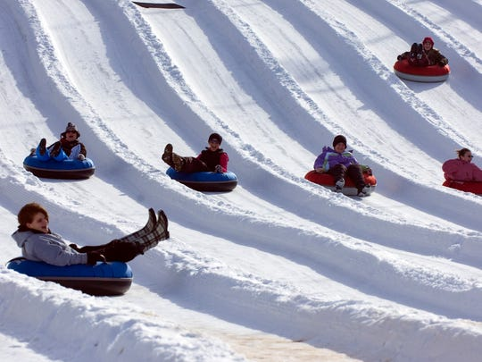 Have some winter weather fun this weekend at Perfect North Slopes Snow Tubing Park.