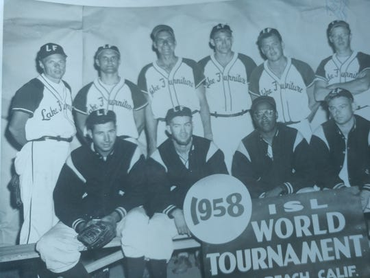 After his days at Bremerton High, Don Brott (back row, second from left) stayed active as a fastpitch softball player.
