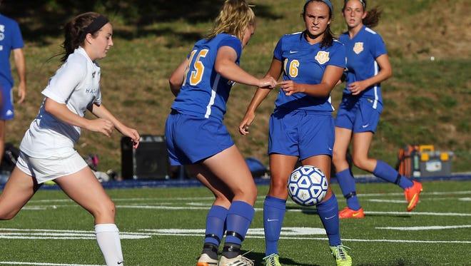 Haldane defeated North Salem 3-1 in a girls soccer game at Haldane High School in Cold Spring Sept. 24, 2015.