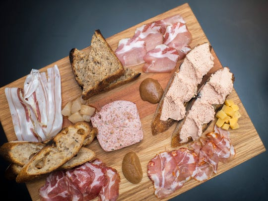 A charcuterie board from Royal Boucherie in Philadelphia, with representation from both Italy and France.