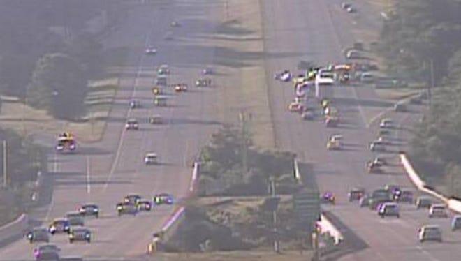 Interstate 275 was shut down Sunday night after an crash.