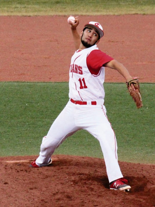 Danny Udero/Sun-News   Cobre's Hondo Tovar pitched a complete game against the Tigers on Tuesday by allowing just three hits and three runs that were all unearned.