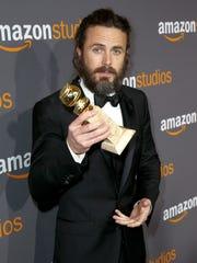 Casey Affleck attends Amazon Studios Golden Globes Celebration.