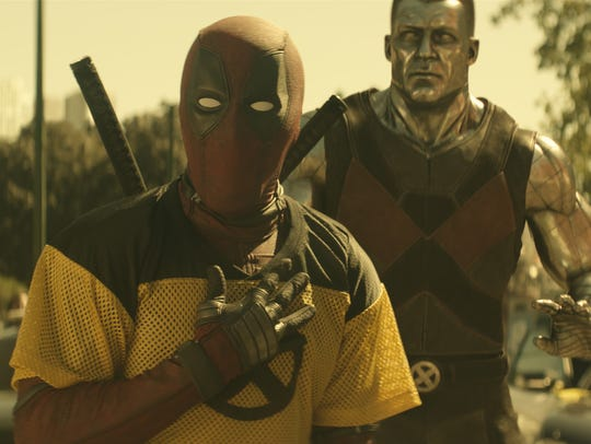 "Wisecracking merc with a mouth Deadpool (Ryan Reynolds, left) runs into an old pal, X-Men powerhouse Colossus (Stefan Kapičić), in the sequel ""Deadpool 2."""