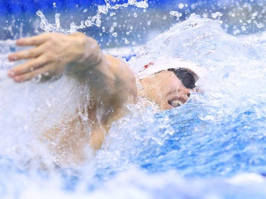Indiana's Blake Pieroni is eligible for selection to Team USA after a great performance in the 100 freestyle.