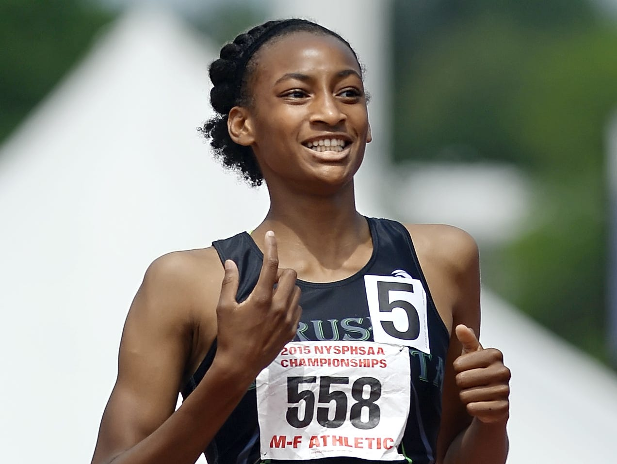 Rush-Henrietta's Sammy Watson won the girls 400 and 1,500 state championships near the end of the last high school outdoor track and field season.
