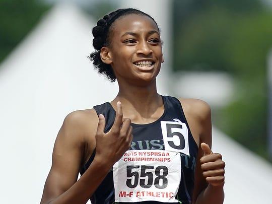 Rush-Henrietta's Sammy Watson won the girls 400 and