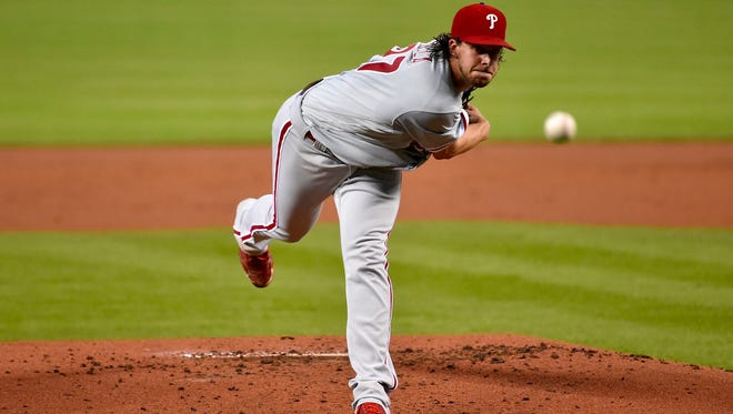 Philadelphia Phillies starting pitcher Aaron Nola (27) represented teh team at Tuesday's 89th All-Star Game in Washington.