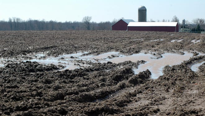 Stormy weather trumped warmer temperatures last week, leaving mud and standing water in fields across most of Wisconsin.