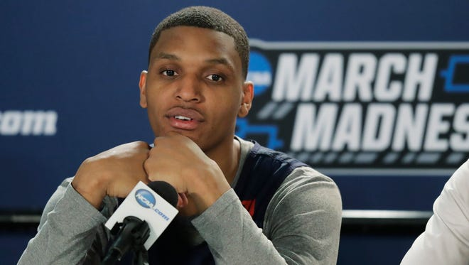 Gonzaga guard Zach Norvell Jr., the hero of his team's opening-round win over North Carolina-Greensboro, talks to reporters Friday about the Zags' second-round matchup with Ohio State.