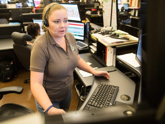 Dispatcher Mandy Ptak came from Baldwin County in Georgia
