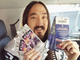 Steve Aoki posts a picture with his Super Bowl tickets