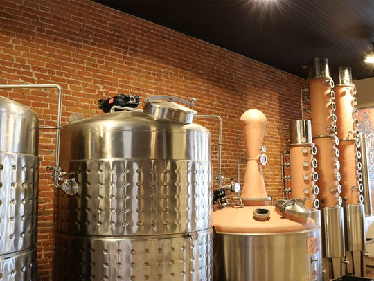 The stills at Denny Bar Company Distillery.