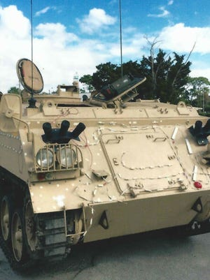 Tank America proposes to use an Abbot FV432 armored personnel carrier at its Melbourne tank-driving venture.