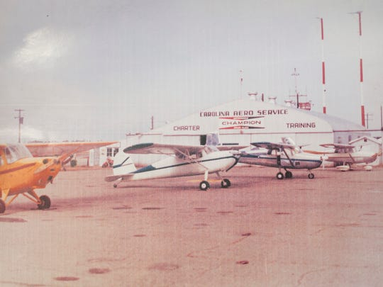 Longtime flight instructor Ben Johnson operated the Carolina Aero Services at the airport from 1947 though 1972.