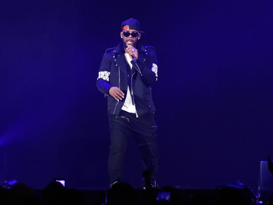 R. Kelly performs during The Buffet Tour at Allstate Arena in 2016 in Chicago, Illinois.