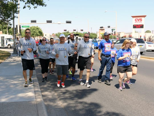 Runners participate in the 2016 Law Enforcement Torch