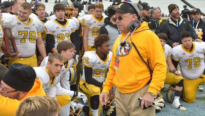 Murphy football coach David Gentry has won a Western North Carolina-record 393 games and seven state championships.