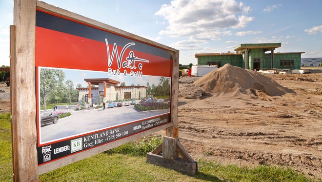Construction continues at Walt's Pub & Grill Tuesday, June 27, 2017, near the intersection of Yeager Road and Kalberer Road in West Lafayette. Owner Walt Foster, who also owns Walt's Other Pub on South Ninth Street in Lafayette, said the Walt's Pub & Grill is slated to open in the fall.