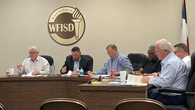 Wichita Falls ISD Board of Trustees meet during a special session on Nov. 14.